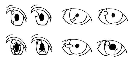 日系绘画中眼睛的众多画法