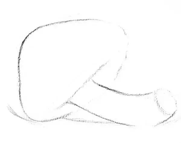 素描雨伞菇的画法